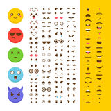 Create your own emoticon. Kawaii faces. Emoji. Avatar. Character Stock Photos