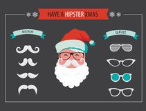 Create your own hipster Santa Christmas card Royalty Free Stock Photo