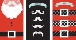 Create your own hipster Santa Christmas card vector illustration
