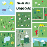 Create your own landscape constructor Stock Images