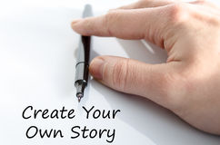 Create your own story text concept Stock Photos