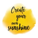 Create your own sunshine quote background Stock Photo