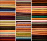 Colored fabrics Royalty Free Stock Photography