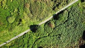 Waldidge fell moorland top view of heather chester le street uk. Created by dji, camera, waldidge fell moorland top view of heather chester le street uk dji stock image