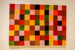 Françoise Sullivan modern painting at MAC Museum royalty free stock photo