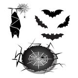 Created halloween bat and spider Royalty Free Stock Photos