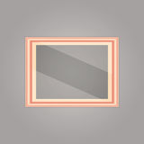 Created pink gold frame with mirror reflection Royalty Free Stock Photos