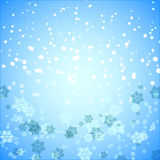 Created snowflake and snow abstract background Stock Photography