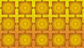 Created texture mosaic Muslim style. On yellow background Stock Image