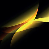 Created yellow curve ray abstract background Royalty Free Stock Photos