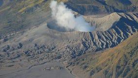 Creater of Bromo volcano, East Java, Indonesia stock video footage