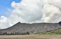 Creater del vulcano di Bromo al parco nazionale di Tengger Semeru Fotografia Stock