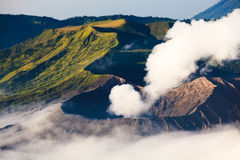 Creater vocalno Bromo, East Java, Индонезия Стоковое Фото