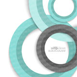 Creatief abstract cirkelpatroon Stock Afbeeldingen