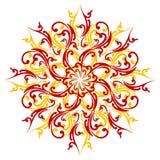 Creatief abstract decoratieelement dat op witte backgroun wordt geïsoleerdt Royalty-vrije Stock Afbeelding