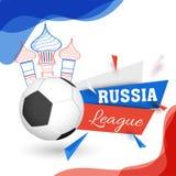 Creatief abstract van de patroonaffiche of banner ontwerp met voetbal Royalty-vrije Illustratie