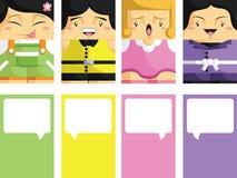 Creatief Adreskaartje met Klantgerichte Illustrat Stock Afbeeldingen