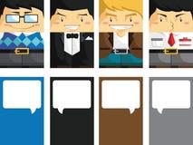 Creatief Adreskaartje met Klantgerichte Illustrat Stock Foto