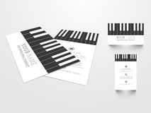 Creatief adreskaartje voor pianoist royalty-vrije illustratie