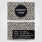 Creatief adreskaartjemalplaatje stock afbeelding
