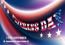 Creatief afficheontwerp voor veteranendag stock illustratie