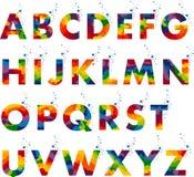 Creatief Alfabet Typografische Reeks Stock Fotografie