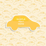 Creatief auto of voertuig van de ontwerpbrochure of banner ontwerp Royalty-vrije Stock Foto's