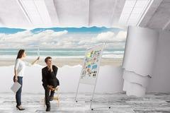 Creatief bedrijfsideeconcept Royalty-vrije Stock Foto's
