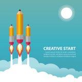 Creatief begin royalty-vrije illustratie