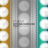 Creatief Bioskoopontwerp Als achtergrond Het winkelen markeringen en pictogrammen Minimale Filmillustratie EPS10 Royalty-vrije Stock Afbeeldingen