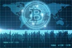 Creatief bitcoinbehang Stock Fotografie
