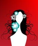 Creatief bloemenmeisje stock illustratie