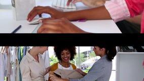 Creatief commercieel team op het werk stock video