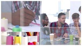 Creatief commercieel team op het werk stock footage