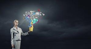 Creatief concept Stock Foto's