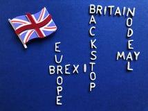 Creatief concept: Britse Overheid en Politiek, Brexit stock fotografie