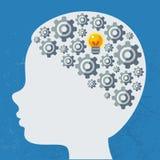 Creatief concept de menselijke hersenen, vector Stock Afbeelding