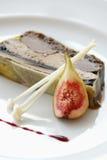 Creatief diner met vers fig. stock afbeeldingen