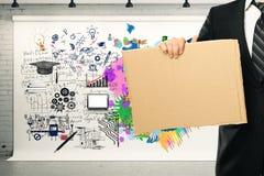 Creatief en analytisch het denken concept Stock Foto