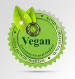 Creatief etiket voor op veganist betrekking hebbende voedsel/dranken Royalty-vrije Stock Afbeelding