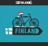 Creatief Fins etiket Royalty-vrije Stock Afbeeldingen
