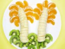Creatief fruitdessert Royalty-vrije Stock Foto's