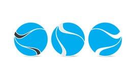 Creatief Gebied Logo Template - Rond gemaakt Cirkellogo design - Abstract Modern Bedrijfembleem stock illustratie