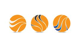 Creatief Gebied Logo Template - Rond gemaakt Cirkellogo design - Abstract Modern Bedrijfembleem royalty-vrije illustratie