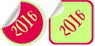 Creatief gelukkig nieuw jaar 2016 ontwerp Vlak Ontwerp Royalty-vrije Stock Afbeeldingen