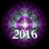 Creatief gelukkig nieuw jaar 2016 ontwerp Vlak Ontwerp Royalty-vrije Stock Foto's