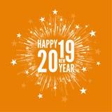 Creatief Gelukkig Nieuwjaar Stock Afbeelding