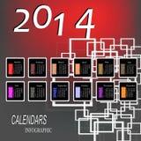 Creatief Gelukkig Nieuwjaar Stock Afbeeldingen