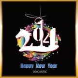 Creatief Gelukkig Nieuwjaar Royalty-vrije Stock Foto's