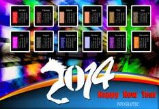 Creatief Gelukkig Nieuwjaar 2014 Stock Fotografie
